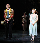 William Ryall & Emilee Dupre during the Curtain Call and check presentation to The Lil' Bravest Charity Inc. at 'Chaplin' at the Barrymore Theatre in New York City on 11/09/2012