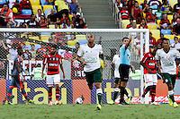 RIO DE JANEIRO, 04.05.2014 - Wesley do Palmeiras comemora seu gol durante o jogo contra Flamengo pela terceira rodada do Campeonato Brasileiro disputado neste domingo no Maracanã. (Foto: Néstor J. Beremblum / Brazil Photo Press)