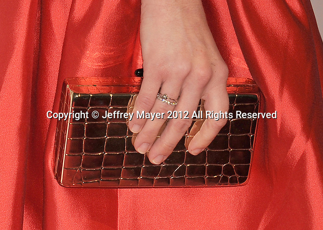 BEVERLY HILLS, CA - OCTOBER 22: Amanda Seyfried (handbag, ring detail) at the 16th Annual Hollywood Film Awards Gala presented by The Los Angeles Times held at The Beverly Hilton Hotel on October 22, 2012 in Beverly Hills, California.