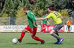 2018-08-12 / Voetbal / seizoen 2018 -2019 / KFC Houtvenne - RC Villers la Ville/ Kjell Ven (l.KFC Houtvenne) met Donatien Boreux ,Foto: Mpics.be