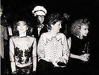 Jo Bocan<br />  au gala de l'ADISQ 1985<br /> <br /> <br /> PHOTO : Stephane Fournier - Agence Quebec Presse
