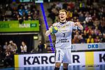 Lucas Witzke (SC DHfK Leipzig #7)  beim Spiel in der Handball Bundesliga, TVB 1898 Stuttgart - SC DHfK Leipzig.<br /> <br /> Foto © PIX-Sportfotos *** Foto ist honorarpflichtig! *** Auf Anfrage in hoeherer Qualitaet/Aufloesung. Belegexemplar erbeten. Veroeffentlichung ausschliesslich fuer journalistisch-publizistische Zwecke. For editorial use only.