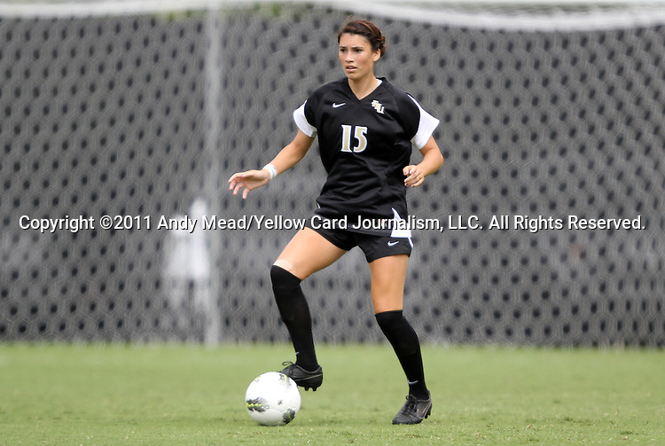 18 September 2011: Florida State's Tiana Brockway. The Duke University Blue Devils defeated the Florida State University Seminoles 2-1 at Koskinen Stadium in Durham, North Carolina in an NCAA Division I Women's Soccer game.