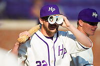 Will Resnik (22) of the High Point Panthers is on the lookout for something during the game against the Bowling Green Falcons at Willard Stadium on March 9, 2014 in High Point, North Carolina.  The Falcons defeated the Panthers 7-4.  (Brian Westerholt/Four Seam Images)