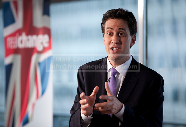 07/06/2012. LONDON, UK. Labour leader Ed Miliband gives a speech on 'Defending the Union' at London's Royal Festival Hall today (07/06/12). Photo credit: Matt Cetti-Roberts