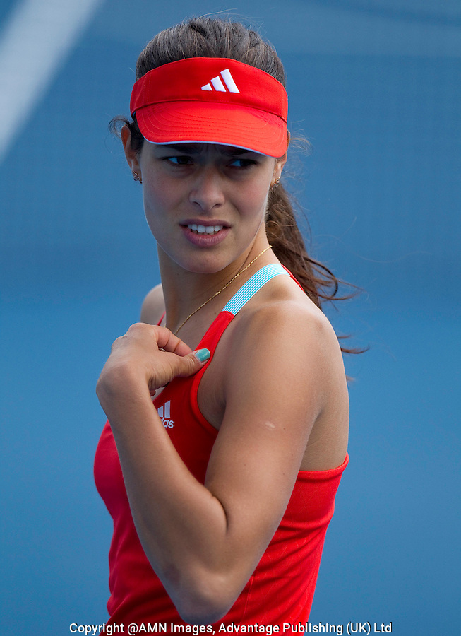 ANA IVANOVIC (SRB) practicing at Melbourne Park..15/01/2012, 15th January 2012, 13.01.2012..The Australian Open, Melbourne Park, Melbourne,Victoria, Australia.@AMN IMAGES, Frey, Advantage Media Network, 30, Cleveland Street, London, W1T 4JD .Tel - +44 208 947 0100..email - mfrey@advantagemedianet.com..www.amnimages.photoshelter.com.