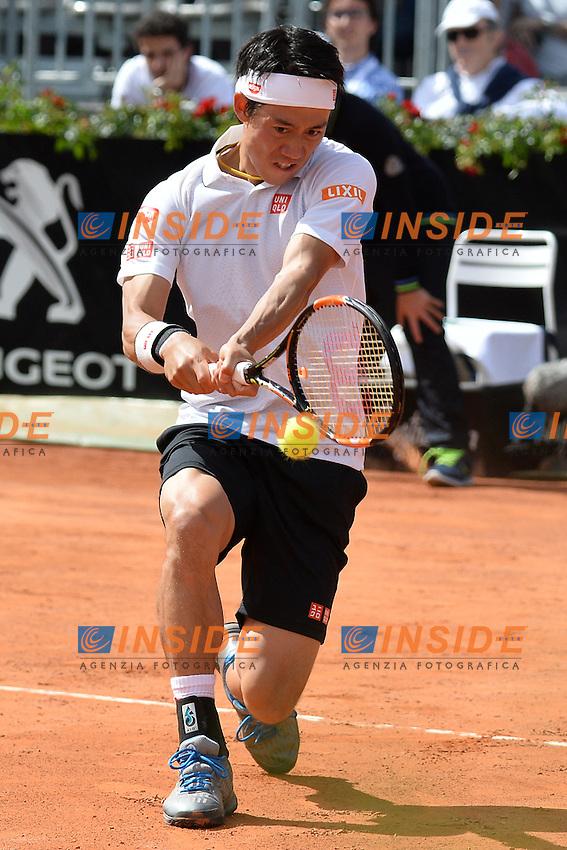 Kei Nishikori (JPN)<br /> Roma 12-05-2016  Foro Italico<br /> Internazionali BNL d'Italia, <br /> Tennis ATP<br /> Foto Antonietta Baldassarre / Insidefoto