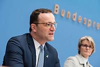 Bundesgesundheitsminister Jens Spahn (CDU), (links) und Bundesforschungsministerin Anja Karliczek (CDU), (rechts) stellten am Dienstag den 29. Januar 2019 in Berlin die &quot;Nationale Dekade gegen Krebs&quot; vor. Ziel sei, &quot;Krebserkrankungen moeglichst verhindern, Heilungschancen durch neue Therapien verbessern, Lebenszeit und -qualitaet von Betroffenen erhoehen&quot;.<br /> 29.1.2019, Berlin<br /> Copyright: Christian-Ditsch.de<br /> [Inhaltsveraendernde Manipulation des Fotos nur nach ausdruecklicher Genehmigung des Fotografen. Vereinbarungen ueber Abtretung von Persoenlichkeitsrechten/Model Release der abgebildeten Person/Personen liegen nicht vor. NO MODEL RELEASE! Nur fuer Redaktionelle Zwecke. Don't publish without copyright Christian-Ditsch.de, Veroeffentlichung nur mit Fotografennennung, sowie gegen Honorar, MwSt. und Beleg. Konto: I N G - D i B a, IBAN DE58500105175400192269, BIC INGDDEFFXXX, Kontakt: post@christian-ditsch.de<br /> Bei der Bearbeitung der Dateiinformationen darf die Urheberkennzeichnung in den EXIF- und  IPTC-Daten nicht entfernt werden, diese sind in digitalen Medien nach &sect;95c UrhG rechtlich geschuetzt. Der Urhebervermerk wird gemaess &sect;13 UrhG verlangt.]