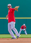 5 March 2015: Washington Nationals second baseman Danny Espinosa fields grounders prior to a Spring Training game against the New York Mets at Space Coast Stadium in Viera, Florida. The Nationals rallied to defeat the Mets 5-4 in Grapefruit League play. Mandatory Credit: Ed Wolfstein Photo *** RAW (NEF) Image File Available ***