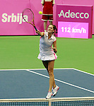 Bojana Jovanovski Fed Cup Serbia vs Canada, World group II, first round, Novi Sad, Serbia, SPENS Sports Center, Sunday, February 06, 2011. (photo: Srdjan Stevanovic)(credit image & photo: Pedja Milosavljevic / +381 64 1260 959 / thepedja@gmail.com )