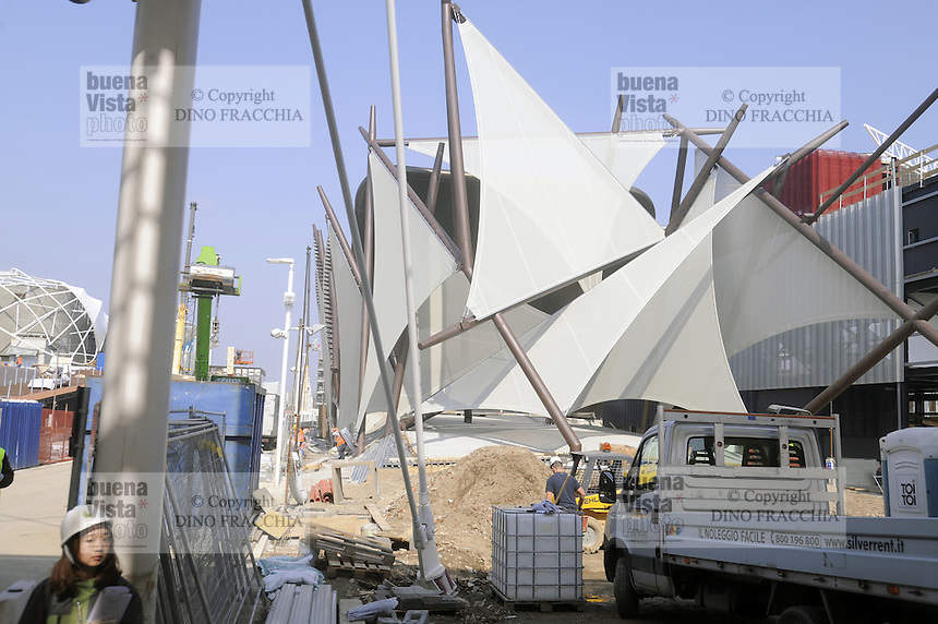 - Milano, cantiere per  l'Esposizione Mondiale Expo 2015; padiglione del Kuwait<br /> <br /> - Milan, construction site for the World Exhibition Expo 2015;  pavilion of Kuwait