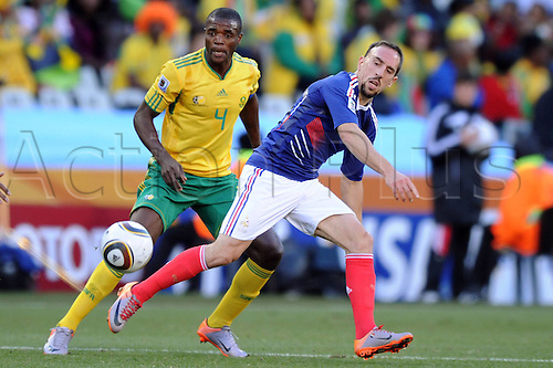 22 06 2010 FIFA World Cup France v South Africa, played Bloemfontein, South Africa at the Free State Stadium.   Simon Franck Ribery FRA