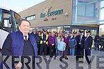 RETIREMENT: Dermot Ryle of Rock St., picturred with family and co-workers retired on Monday from Bus Eireann after 40 years service.