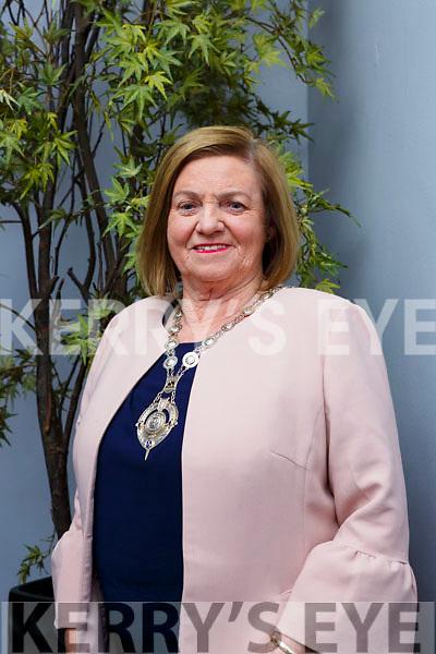 Teresa Irwin who is the new National Sorotimist President with her fellow members of Killarney Soroptimists on Tuesday evening