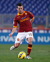 Calcio, ottavi di finale di Coppa Italia: Roma vs Atalanta. Roma, stadio Olimpico, 11 dicembre 2012..AS Roma midfielder Miralem Pjanic, of Bosnia, in action during their Italy Cup last-16 tie football match between AS Roma and Atalanta at Rome's Olympic stadium, 11 December 2012..UPDATE IMAGES PRESS/Isabella Bonotto