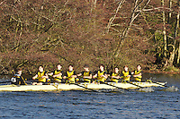 053 .HAM-Coomes .J18A.8+ .Hampton Sch BC. Wallingford Head of the River. Sunday 27 November 2011. 4250 metres upstream on the Thames from Moulsford railway bridge to Oxford Universitiy's Fleming Boathouse in Wallingford. Event run by Wallingford Rowing Club..