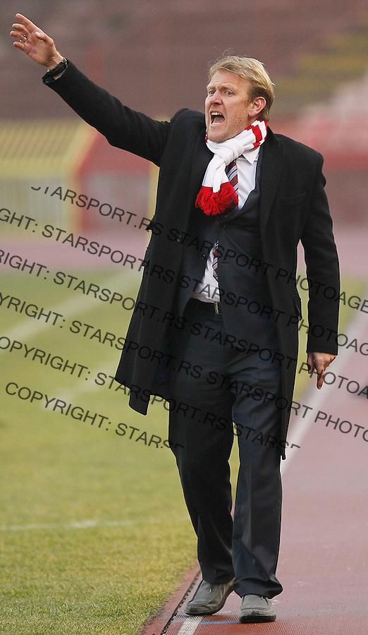 Fudbal, sezona 2010/11.Prijateljski mec.Crvena Zvezda Vs. Borac (Banja Luka).head coach Robert Prosinecki, react.Belgrade, 20.02.2011..foto: Srdjan Stevanovic/Starsportphoto ©
