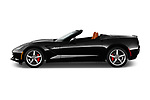 Car driver side profile view of a 2018 Chevrolet Corvette Stingray Convertible 2LT 2 Door Convertible