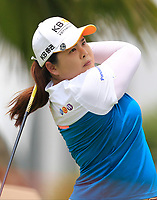 Inbee Park (KOR) in action on the 12th during Round 1 of the HSBC Womens Champions 2018 at Sentosa Golf Club on the Thursday 1st March 2018.<br /> Picture:  Thos Caffrey / www.golffile.ie<br /> <br /> All photo usage must carry mandatory copyright credit (&copy; Golffile | Thos Caffrey)