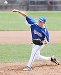 TORRINGTON CT. 28 July 2017-072817SV06-#24 Andrew Paradis of Wolcott Storm  pitches in the 2nd inning against Dallas Forth Worth during the Mickey Mantle World Series in Torrington Friday.<br /> Steven Valenti Republican-American