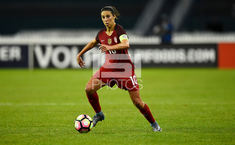 Washington, D.C. - March 7, 2017: France goes up 2-0 over the U.S. Women's national team in first half play in a SheBelieves Cup match at RFK Stadium.