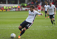 Bolton Wanderers' Adam Le Fondre scores his side's first goal  from the penalty spot<br /> <br /> Photographer Rachel Holborn/CameraSport<br /> <br /> The EFL Sky Bet Championship - Barnsley v Bolton Wanderers - Saturday 14th April 2018 - Oakwell - Barnsley<br /> <br /> World Copyright &copy; 2018 CameraSport. All rights reserved. 43 Linden Ave. Countesthorpe. Leicester. England. LE8 5PG - Tel: +44 (0) 116 277 4147 - admin@camerasport.com - www.camerasport.com