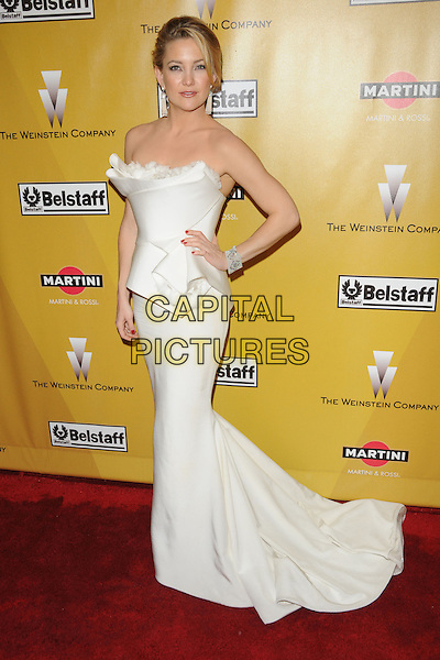 KATE HUDSON.At Weinstein Company Post Golden Globe Party held at Bar210 & Plush Ultra Lounge in Beverly Hills, California, USA. January 17th, 2010                                                                   globes full length white dress origami strapless pleated pleats hand on hip.CAP/DVS.©Debbie VanStory/Capital Pictures
