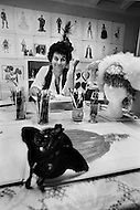 April 27th, 1979. French costume designer, Jean-Pierre Dorléac at his Studio. He has designed performance costumes for various artists as well as famous movies.
