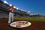 19 May 2012: Washington Nationals outfielder Bryce Harper stands on deck during game action against the Baltimore Orioles at Nationals Park in Washington, DC. The Orioles defeated the Nationals 6-5 in the second game of their 3-game series. Mandatory Credit: Ed Wolfstein Photo