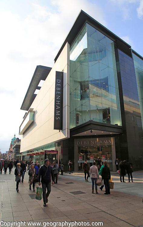 Debenhams department store shop, Henry Street, Dublin city centre, Ireland, Republic of Ireland