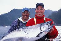 Fishing salmon in British Columbia