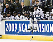 Ed Maturo (Yale - Manager), Kevin Peel (Yale - 23), Yale?, Yale?, C.J. Marottolo (Yale - Associate Head Coach), Yale?, Keith Allain (Yale - Head Coach), Denny Kearney (Yale - 19) - The University of Vermont Catamounts defeated the Yale University Bulldogs 4-1 in their NCAA East Regional Semi-Final match on Friday, March 27, 2009, at the Bridgeport Arena at Harbor Yard in Bridgeport, Connecticut.