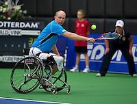 December 189 2014, Rotterdam, Topsport Centrum, Lotto NK Tennis, Wheelchair men's semifinal, Ronald Vink (NED) <br /> Photo: Tennisimages/Henk Koster