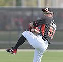 Ichiro Suzuki (Marlins),<br /> FEBRUARY 25, 2014 - MLB :<br /> Ichiro Suzuki of the Miami Marlins throws a ball during the Miami Marlins spring training camp in Jupiter, Florida, United States. (Photo by AFLO)