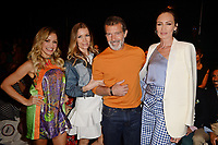 MIAMI, FL - JUNE 02: Fanny Lu, Nicole Kimpel, Antonio Banderas and Nieves Alverez attend the Custo Barcelona Runway Show during Miami Fashion Week at the Ice Palace Studios on June 2, 2018 in Miami Florida. <br /> CAP/MPI04<br /> &copy;MPI04/Capital Pictures