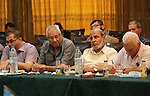 Members of Hamas legislative council attend a meeting in Gaza city, on Aug. 09, 2016. Photo by Mohammed Asad