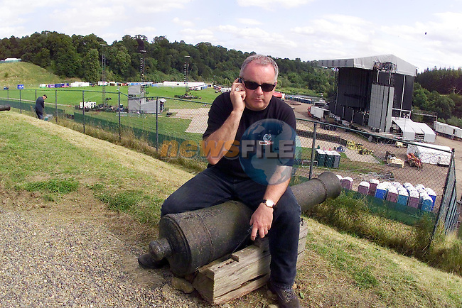 MCD main Man Padraig Boran who is incharge of everything being done on site in the run up to the concert..Picture Fran Caffrey Newsfile.
