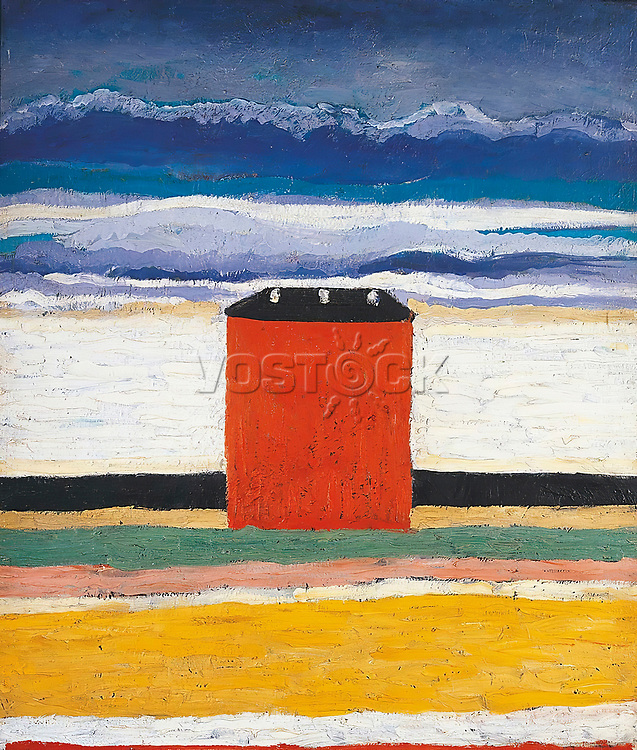 Kazimir Severinovich Malevich (1879-1935), The Red House, 1932.