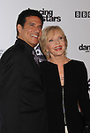"HOLLYWOOD, CA. - November 01: Corky Ballas and Florence Henderson attend ""Dancing With The Stars"" 200th Episode at Boulevard 3 on November 1, 2010 in Hollywood, California."