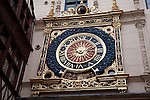 Gros Horloge Medieval Clock in Rouen, Normandy, France