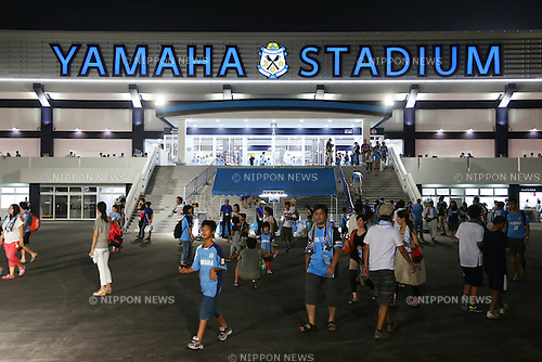 General view of YAMAHA Stadium, <br /> August 24, 2013 - Football / Soccer : <br /> 2013 J.LEAGUE Division 1, 22nd Sec <br /> match between Jubilo Iwata 0-0 F.C.Tokyo <br /> at YAMAHA Stadium, Shizuoka, Japan. <br /> (Photo by Daiju Kitamura/AFLO SPORT) [1045]