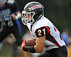 Mike Carneiro #21 of Mount Sinai rushes for a gain during the second quarter of a Suffolk County Division IV varsity football game against host Glenn High School on Saturday, Sept. 10, 2016.