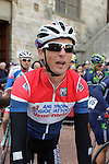 Johnny Hoogerland (NED) Androni Giocattoli at sign on before the start of the 2014 Strade Bianche race over the white dusty gravel roads of Tuscany, Italy. 8th March 2014.<br /> Picture: Eoin Clarke www.newsfile.ie