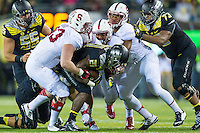 EUGENE, OR - NOVEMBER 1, 2014:  Blake Lueders during Stanford's game against Oregon. The Ducks defeated the Cardinal 45-16.