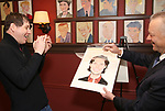 James Barbour with owner Max Klimavicius attend his Top Secret portrait unveiling at Sardi's on March 10, 2017 in New York City.