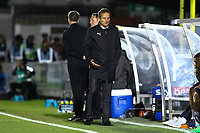 Frustration for AFC Wimbledon manager Neal Ardley during AFC Wimbledon vs Bradford City, Sky Bet EFL League 1 Football at the Cherry Red Records Stadium on 2nd October 2018