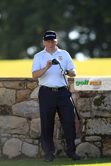 Brendan Rolston (Cairndhu) during the final of the AIG Jimmy Bruen Ulster Final at Dungannon Golf Club, Dungannon, Tyrone, Ireland. 11/08/2017<br /> Picture: Fran Caffrey / Golffile