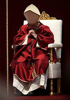Pope Francis celebrates the Good Friday Passion of Christ Mass in St. Peter's Basilica, at the Vatican, on April 19, 2019.<br /> UPDATE IMAGES PRESS/Isabella Bonotto<br /> <br /> STRICTLY ONLY FOR EDITORIAL USE
