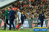 5th October 2017, Wembley Stadium, London, England; FIFA World Cup Qualification, England versus Slovenia; Raheem Sterling of England is substituted