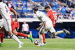 Real Madrid's Sergio Ramos and Sevilla FC Stevan Jovetic during La Liga match between Real Madrid and Sevilla FC at Santiago Bernabeu Stadium in Madrid, May 14, 2017. Spain.<br /> (ALTERPHOTOS/BorjaB.Hojas)